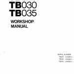 Takeuchi TB025, TB030 and TB035 Excavator Service Manual