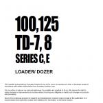 Komatsu Dresser Td7c, Td7e, Td8c And Td8e Dozer Service Manual