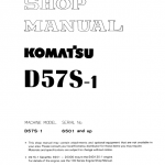 Komatsu D57S-1 Dozer Service Manual