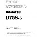 Komatsu D75s-5 Dozer Service Manual