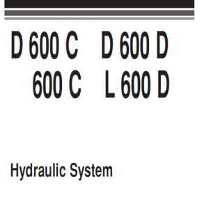 Komatsu D600C, D600D, 600C and L600D Dozer Service Manual