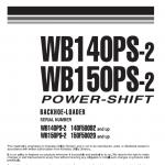 Komatsu Wb140ps-2 And Wb150ps-2 Backhoe Loader Service Manual