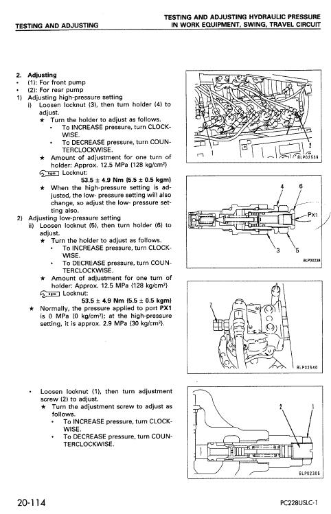Komatsu Pc228us-2, Pc228uslc-1 And Pc228uslc-2 Excavator Manual