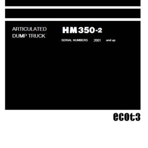 Komatsu Hm350-2 Dump Truck Service Manual