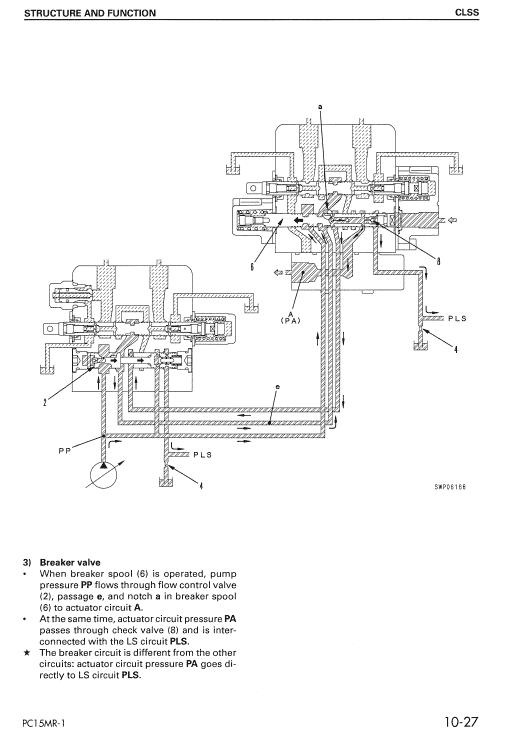Komatsu Pc15mr-1 Excavator Service Manual