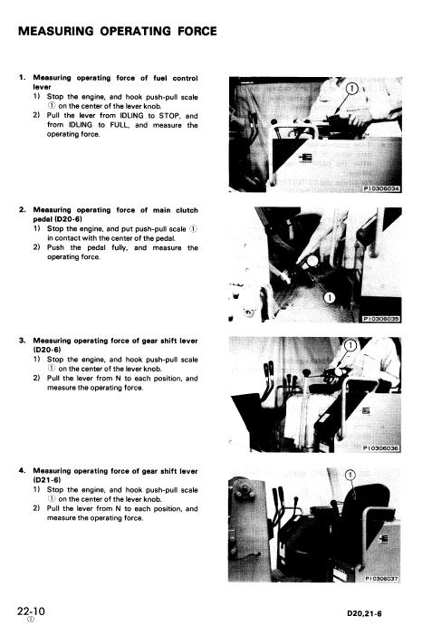 Komatsu D20a-6, D20p-6, D20p-6a, D20pl-6 Dozer Service Manual
