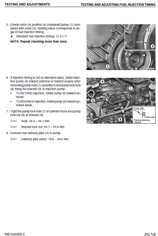 Komatsu Wb150aws-2 Backhoe Loader Service Manual
