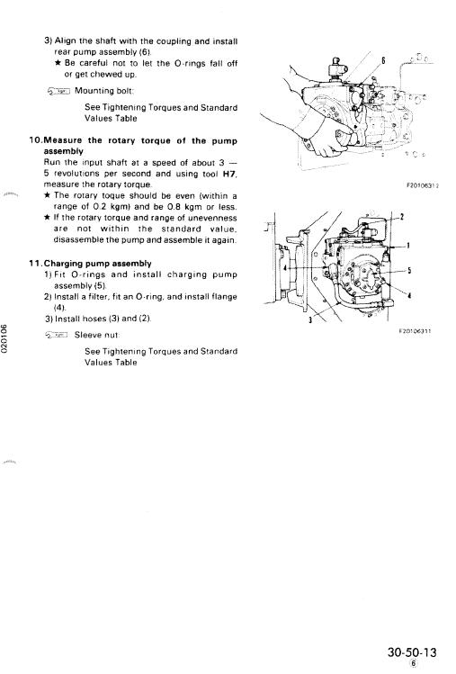 Komatsu Pc60-6, Pc60l-6, Pc90-1 Excavator Service Manual