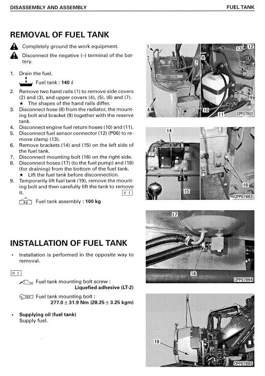 Komatsu Pc158us-2 Excavator Service Manual