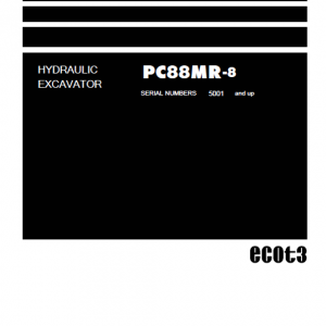 Komatsu PC88MR-8 Excavator Service Manual