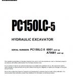Komatsu Pc150lc-5 Excavator Service Manual