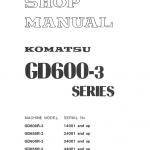 Komatsu Gd655r-3, Gd605a-3, Gd655a-3 Grader Service Manual