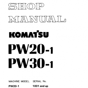 Komatsu PW20-1 and PW30-1 Excavator Service Manual