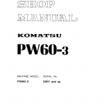 Komatsu Pw60-3 Excavator Service Manual