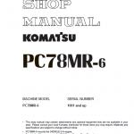 Komatsu Pc78mr-6 Excavator Service Manual