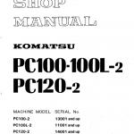 Komatsu Pc100-2, Pc100l-2, Pc120-2 Excavator Service Manual