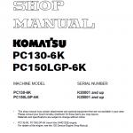 Komatsu Pc130-6k, Pc150lgp-6k Excavator Service Manual
