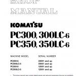 Komatsu Pc300-6, Pc300lc-6, Pc350-6, Pc350lc-6 Excavator Manual