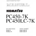 Komatsu Pc450-7k And Pc450lc-7k Excavator Service Manual