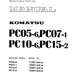 Komatsu Pc05-6, Pc07-1, Pc10-6, Pc15-2 Excavator Manual