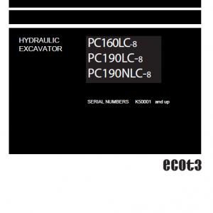 Komatsu Pc160lc-8, Pc190lc-8, Pc190nlc-8 Excavator Service Manual