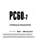 Komatsu Pc60-7 And Pc60-7b Excavator Service Manual