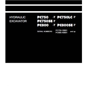 Komatsu Pc750-7, Pc750lc-7, Pc800-7, Pc800se-7 Excavator Service Manual