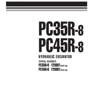 Komatsu Pc30r-8, Pc35r-8, Pc40r-8, Pc45r-8 Excavator Service Manual