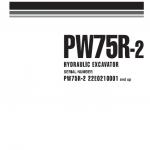 Komatsu Pw75r-2 Excavator Service Manual
