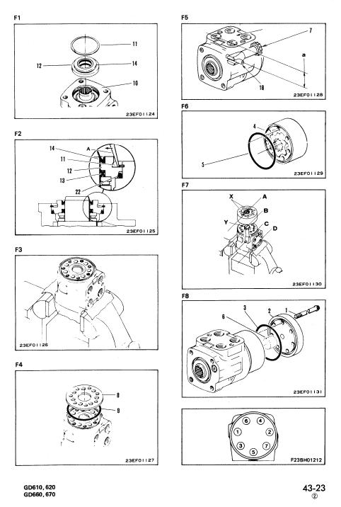 Komatsu Gd611, Gd613, Gd615 Motor Grader Service Manual