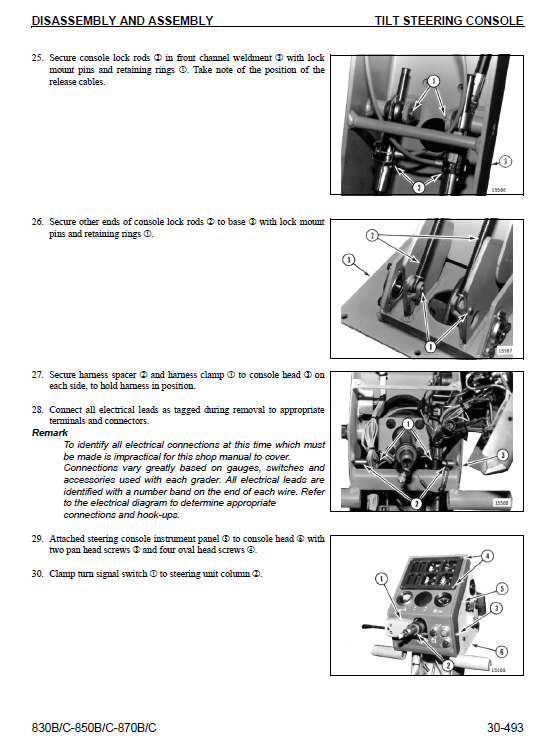 Komatsu 830b, 850b, 870b Motor Grader Service Manual