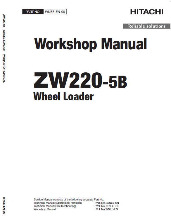 Hitachi ZW220-5A, ZW220-5B Wheel Loader Service Manual