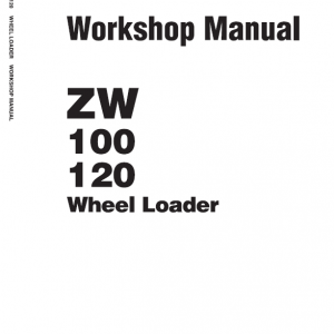 Hitachi ZW100 and ZW120 Wheel Loader Service Manual