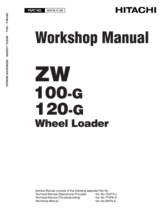 Hitachi ZW100-G, ZW120-G Wheel Loader Service Manual