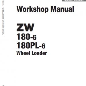 Hitachi Zw180-6 Wheel Loader Service Manual