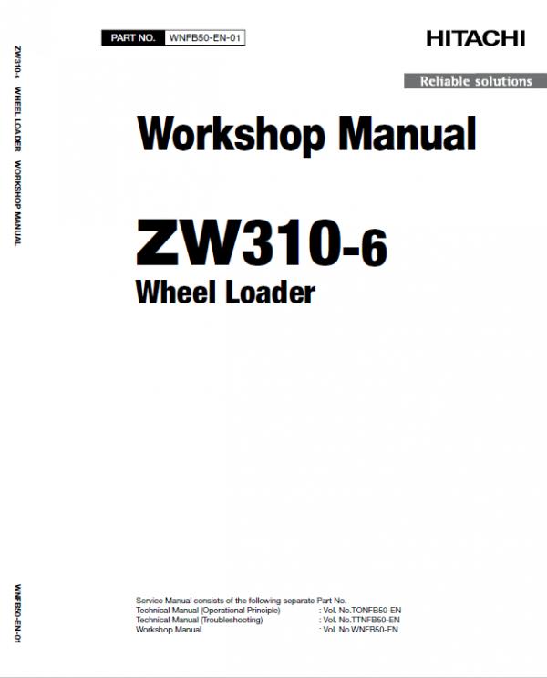 Hitachi ZW310-6 Wheel Loader Service Manual