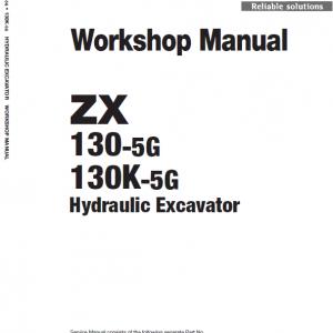 Hitachi ZX130-5G Excavator Service Manual