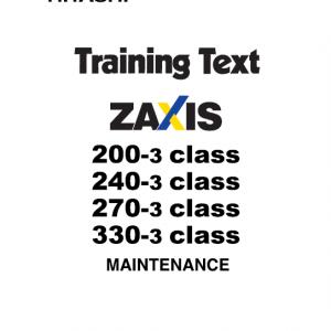Hitachi Zx200-3, Zx240-3, Zx270-3 Excavator Service Manual
