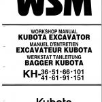 Kubota Kh66, Kh91, Kh101, Kh105 Excavator Workshop Manual