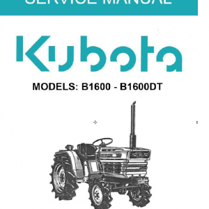 Kubota B1600, B1600DT Tractor Operating Manual