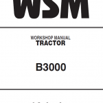 Kubota B3000 Tractor Workshop Service Manual