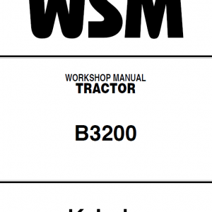 Kubota B3200 Tractor Workshop Service Manual