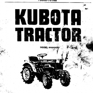 Kubota B6000 Tractor Workshop Service Manual