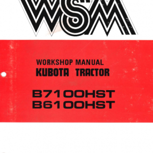 Kubota B6100hst, B7100hst Tractor Workshop Service Manual