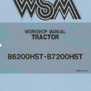 Kubota B6200hst, B7200hst Tractor Workshop Service Manual