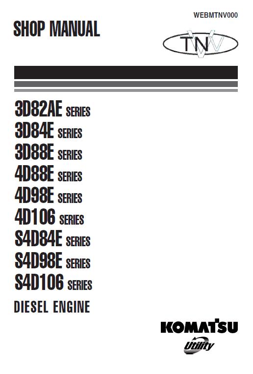 Komatsu S4d84e, S4d98e, S4d106 Series Engine Manual