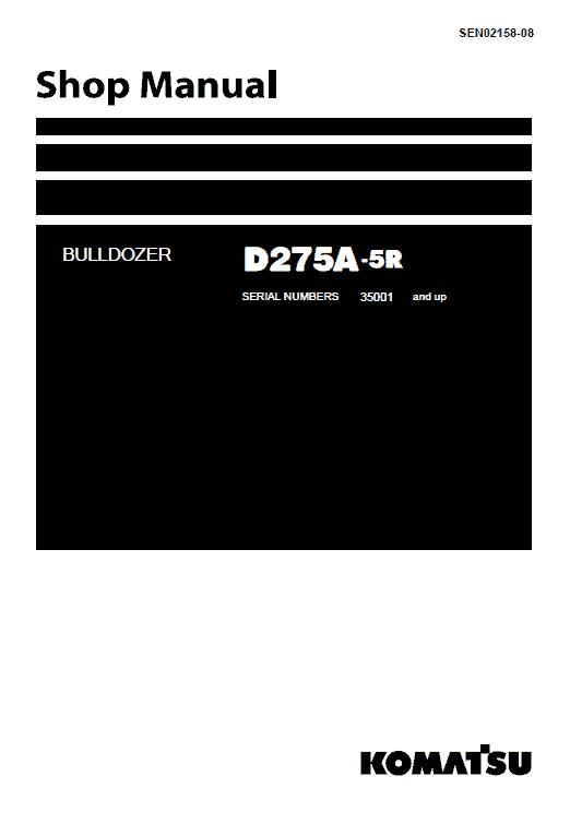Komatsu D275a-5 Dozer Service Manual