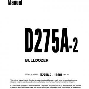 Komatsu D275A-2 Dozer Service Manual