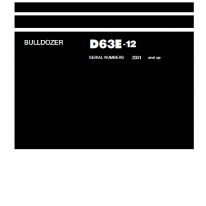 Komatsu D63E-12 Dozer Service Manual