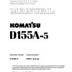 Komatsu D155A-5 Dozer Service Manual